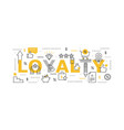 loyalty program infographic vector image vector image