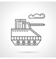 Military robot flat line icon vector image