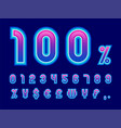 modern numbers vector image vector image