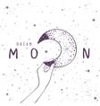 Moon Art Poster vector image vector image