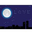 moonlight vector image vector image
