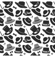 pattern with vintage hats vector image vector image