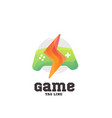 play game logo vector image