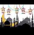 ramadan kareem greeting card stylized drawing of vector image vector image