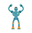 robot confused emoji oops cyborg perplexed vector image vector image