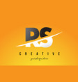 rs r s letter modern logo design with yellow vector image vector image