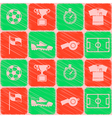 Seamless pattern with soccer icons vector image vector image