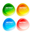 set of modern multicolored abstract banners vector image
