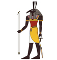 Seth Isolated figure of ancient egypt god vector image vector image