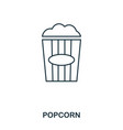 simple outline popcorn icon pixel perfect linear vector image
