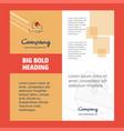 skates company brochure title page design company vector image vector image