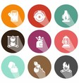 Solid fuels icons shadow vector image vector image
