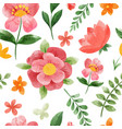 spring floral seamless pattern hand drawn vector image vector image