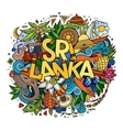 Sri Lanka hand lettering and doodles elements vector image vector image