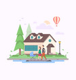 sweet home - modern flat design style vector image