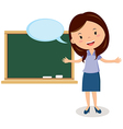 Teacher on lesson vector image