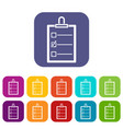 to do list icons set flat vector image vector image