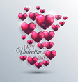 valentines background 3 vector image vector image