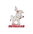 Vote Republican Elephant Mascot Cartoon vector image vector image