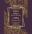 wedding flowers invitation card vector image