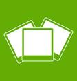 wedding invitation cards icon green vector image vector image