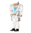 White wedding or ceremonial man suit vector image