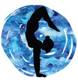 women silhouettearm balance scorpion yoga pose vector image vector image