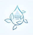 world water day leaf vector image