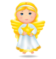 Angel with star vector image