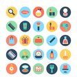 Fashion and Beauty Colored Icons 1 vector image