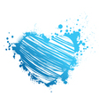 Blue grunge heart vector image