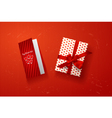 Valentines card gift box vector image