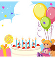 a cute birthday card vector image vector image