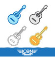 acoustic guitar icon vector image