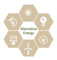 Alternative energy vector image vector image