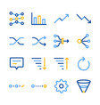 analytics icons set vector image vector image