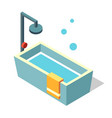 bathtub isometric vector image