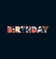 birthday concept word art vector image vector image