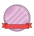blank decorative stamp vector image