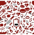 blood seamless pattern vector image vector image