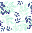 botanical seamless pattern of abstract blue green vector image vector image