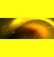 bright neon circles and wave lines glowing shiny vector image vector image