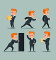 businessman character different positions and vector image vector image