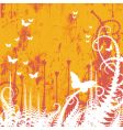 butterfly grunge vector image