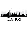 Cairo City skyline black and white silhouette vector image vector image