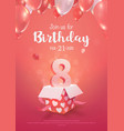 celebrating 8 years birthday 3d vector image vector image