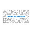 chemical analysis concept banner vector image