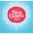 Christmas card Holiday background with badge vector image vector image