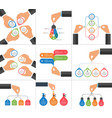 collection infographics design elements can vector image vector image