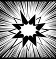 comic burst monochrome concept vector image vector image